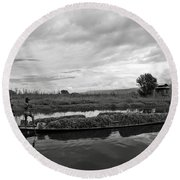 Inle Lake In Burma Round Beach Towel