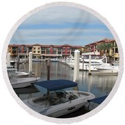 Inner Harbor - Naples Round Beach Towel