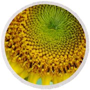 Inner Peace Forms Within This Sweet Yellow Sunflower Round Beach Towel