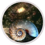 Inner Space Outer Space Round Beach Towel