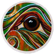 Inner Strength Spirit Eye Round Beach Towel