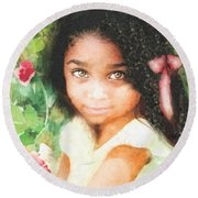 Innocence Round Beach Towel