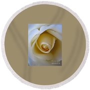 Innocence White Rose 5 Round Beach Towel
