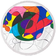 Inside And Outside The Circle Round Beach Towel
