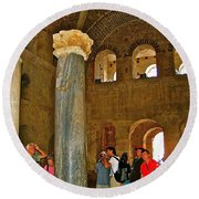Inside Church Of Saint Nicholas In Myra-turkey Round Beach Towel