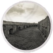 Inside Fort Macomb Round Beach Towel