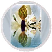 Inside Magnolia Reflect  Round Beach Towel