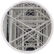 Inside Of The Ferris Wheel Round Beach Towel