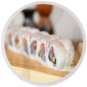 Inside Out Tuna Sushi Round Beach Towel