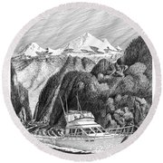 Cruising The Inside Passage Round Beach Towel