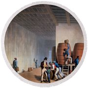 Inside The Distillery, From Ten Views Round Beach Towel