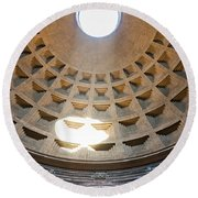 Inside The Pantheon - Rome - Italy Round Beach Towel