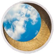 Inside View Of Cooling Tower Round Beach Towel