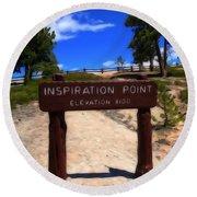 Inspiration Point Round Beach Towel