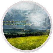 Inspirational - Eternal Hope - Psalms 19-1 Round Beach Towel