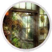 Inspirational - The Door To Paradise - Peter 1-11 Round Beach Towel