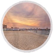 Inspirational Theater Old Orchard Beach  Round Beach Towel