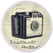 Instant Artist Round Beach Towel by Edward Fielding