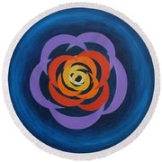 Integrated Cresents Round Beach Towel