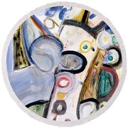 Intellect Round Beach Towel