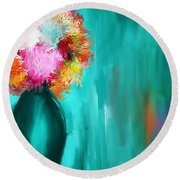 Intense Eloquence Round Beach Towel by Lourry Legarde