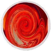 Intense Love Round Beach Towel
