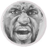 Intensity Lebron James Round Beach Towel