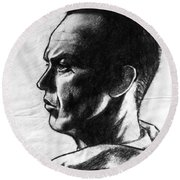 Michael Keaton Round Beach Towel