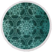 Interference Round Beach Towel