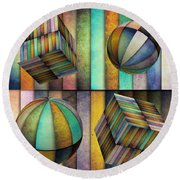 Interior Design 3 Round Beach Towel