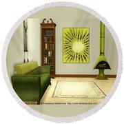Interior Design Idea - Kiwi Round Beach Towel