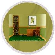 Interior Design Idea - Little Lizard - Animal Art Round Beach Towel