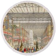 Interior Of The Crystal Palace, Pub Round Beach Towel