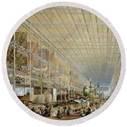 Interior Of The Great Exhibition Of All Round Beach Towel by Edmund Walker