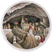 Interior Of The Grotto Of Nam Hou Round Beach Towel