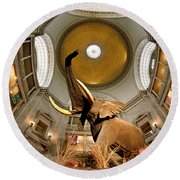 Interiors Of A Museum, National Museum Round Beach Towel
