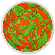 Intersection, No. 1 Round Beach Towel