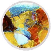 Intersections 03 Round Beach Towel