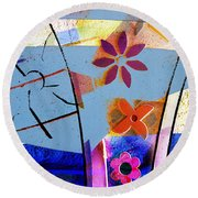 Interstate 10- Exit 256- Grant Rd Underpass- Rectangle Remix Round Beach Towel