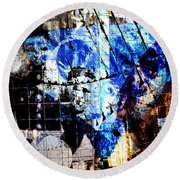 Interstate 10- Exit 257a- St Marys Rd / 6th St Underpass- Rectangle Remix Round Beach Towel