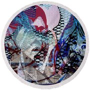 Interstate 10- Exit 261- 6th Ave Overpass- Rectangle Remix Round Beach Towel