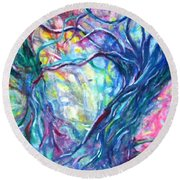 Intertwined 1 Round Beach Towel