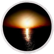 Into Sunset Round Beach Towel