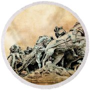 Into The Air Charging Round Beach Towel