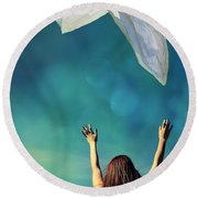 Into The Atmosphere Round Beach Towel
