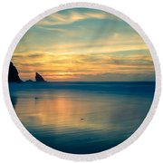 Into The Blue IIi Round Beach Towel by Marco Oliveira