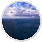 Into The Blues Round Beach Towel