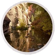 Into The Canyon  Round Beach Towel