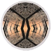 Into The Core Round Beach Towel