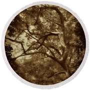 Into The Dark Wood Round Beach Towel